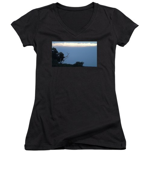 Distant White Clouds Women's V-Neck T-Shirt