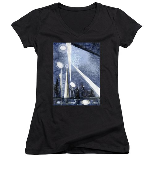 Dystopia Women's V-Neck (Athletic Fit)