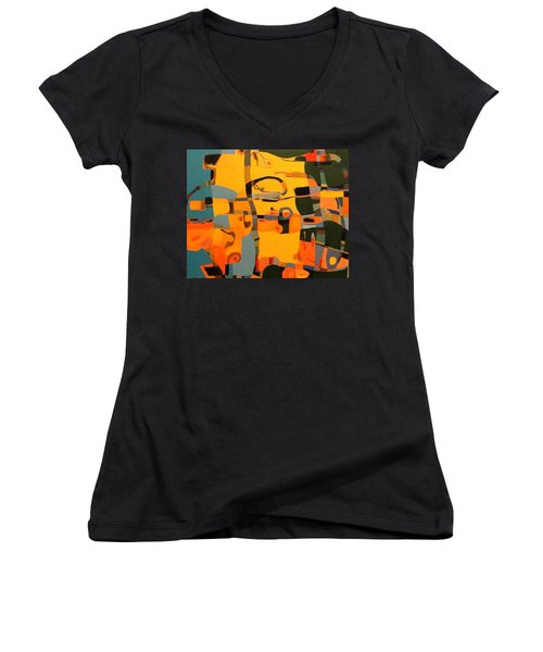 Diverging Pathways Women's V-Neck T-Shirt