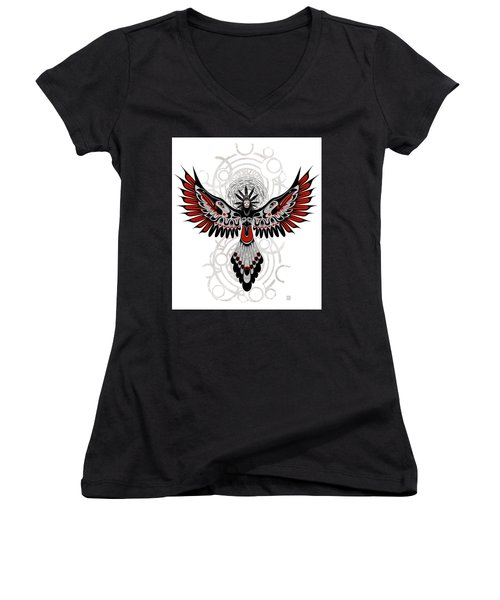 Divine Crow Woman Women's V-Neck