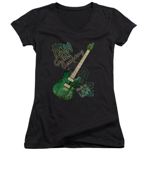 Dna Guitar Shirt 3 Women's V-Neck