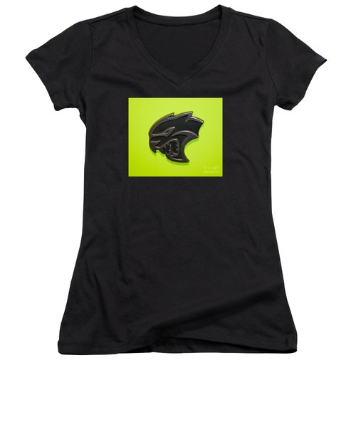 Dodge Challenger Srt Hellcat Emblem Women's V-Neck (Athletic Fit)