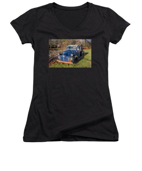 Dodge Pickup Women's V-Neck (Athletic Fit)