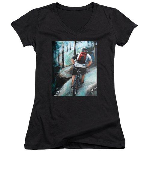 Dodging Trees Women's V-Neck T-Shirt