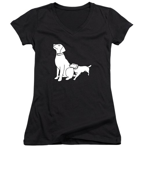 Dog Love Tee Women's V-Neck (Athletic Fit)