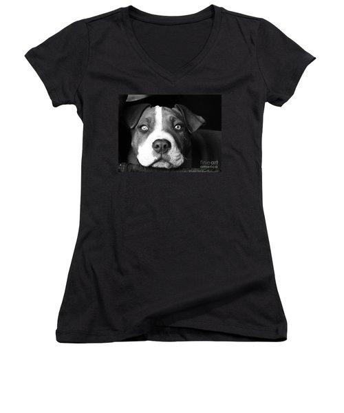 Dog - Monochrome 2 Women's V-Neck