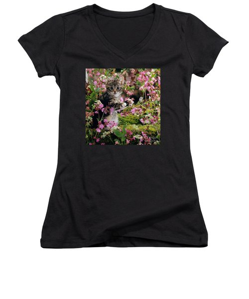 Don't Pick The Flowers Women's V-Neck (Athletic Fit)