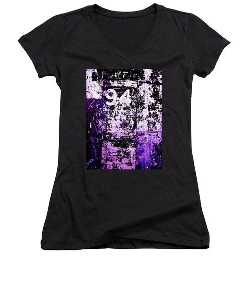 Door 94 Perception Women's V-Neck T-Shirt (Junior Cut) by Bob Orsillo