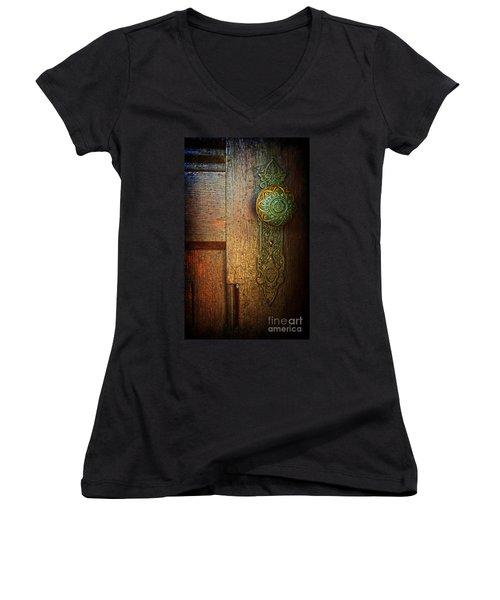 Doorknob Women's V-Neck T-Shirt (Junior Cut)