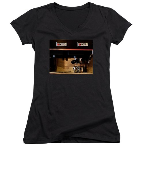 Double Shot Of Espresso Women's V-Neck T-Shirt (Junior Cut)