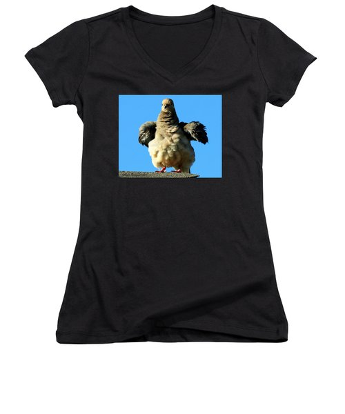 Dove On Steroids I Women's V-Neck T-Shirt
