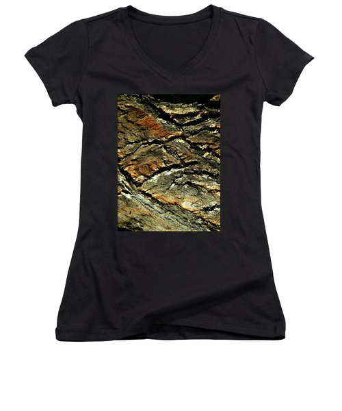 Women's V-Neck T-Shirt (Junior Cut) featuring the photograph Down In The Valley by Lenore Senior