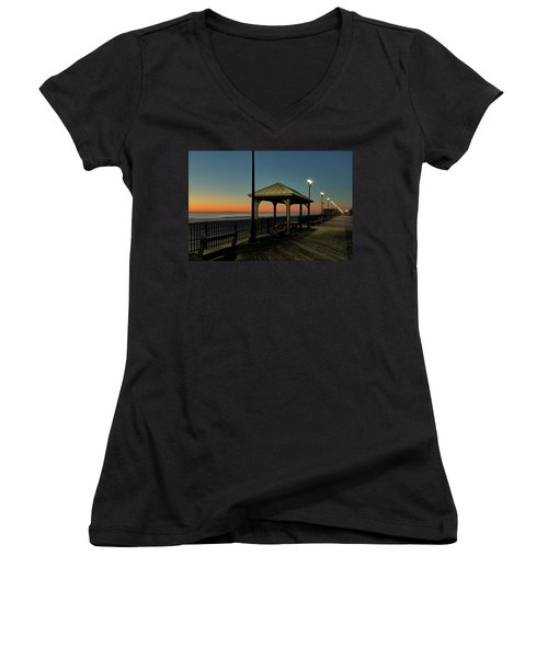 Down The Shore At Dawn Women's V-Neck