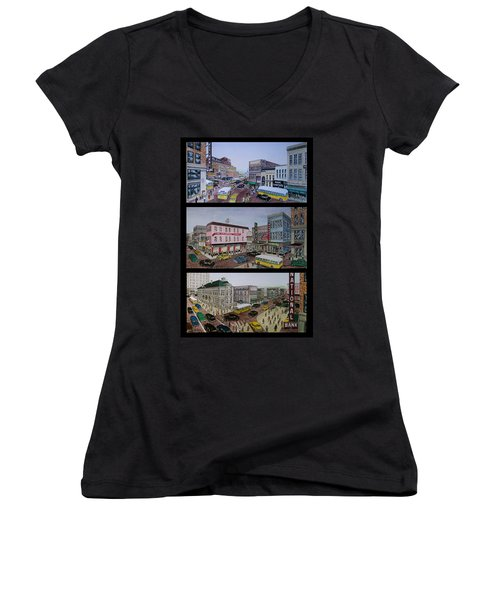 Downtown Portsmouth 1948 Women's V-Neck (Athletic Fit)