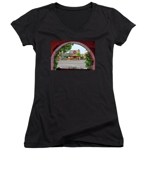 Downtown Solvang Women's V-Neck