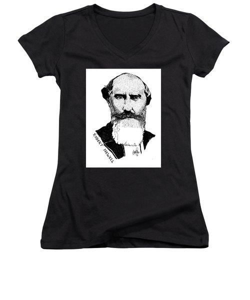 Dr. Robert Newell Women's V-Neck T-Shirt