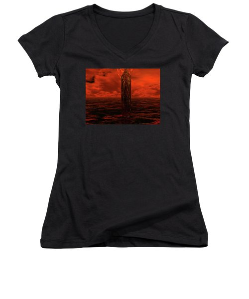 Dragon's Spire Women's V-Neck T-Shirt