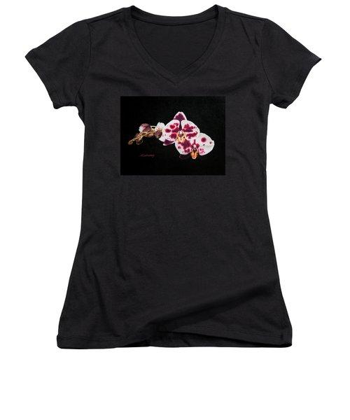 Drawing Of Polka Dot Moths Women's V-Neck T-Shirt