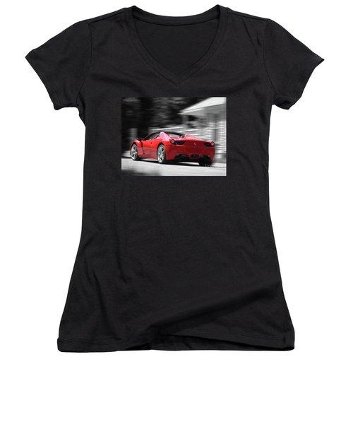 Dream Car Women's V-Neck T-Shirt (Junior Cut) by Susan Lafleur