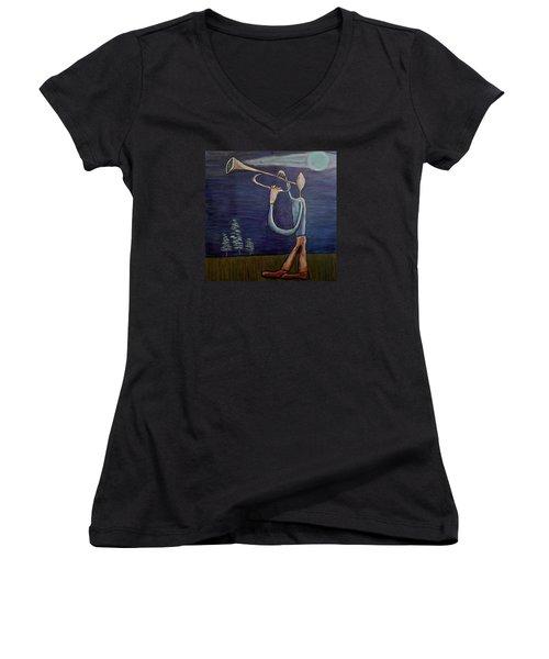 Dreamers 13-002 Women's V-Neck T-Shirt (Junior Cut) by Mario Perron
