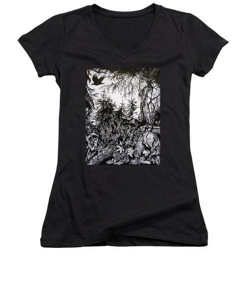 Dreaming Alaska.part One Women's V-Neck (Athletic Fit)