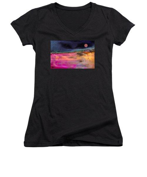 Dreamscape No. 684 Women's V-Neck T-Shirt (Junior Cut)