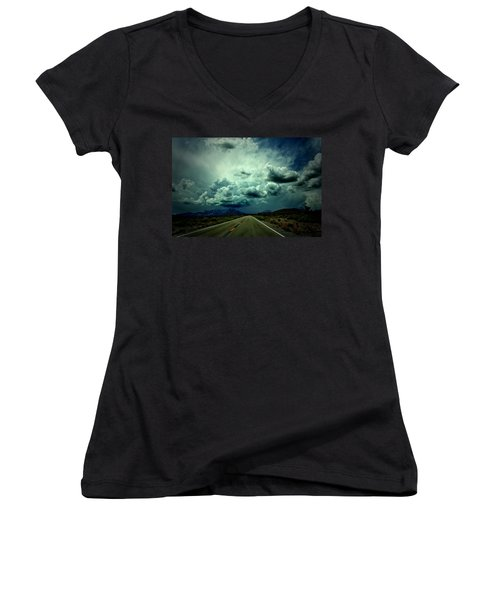 Drive On Women's V-Neck T-Shirt (Junior Cut) by Mark Ross