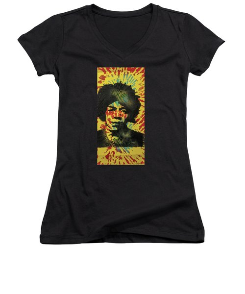 Drop's From My Fender's Fingers Women's V-Neck (Athletic Fit)