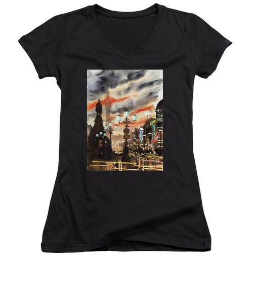 Dublin... The Ghost Of Nelson Women's V-Neck T-Shirt