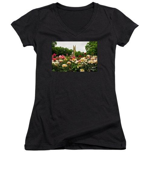 Duke Chapel And Roses Women's V-Neck