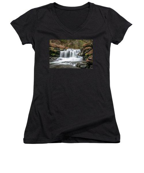 Dunloup Creek Falls Women's V-Neck