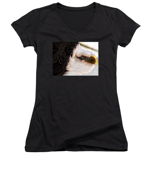 Eagle Eye Women's V-Neck T-Shirt (Junior Cut) by Sherman Perry