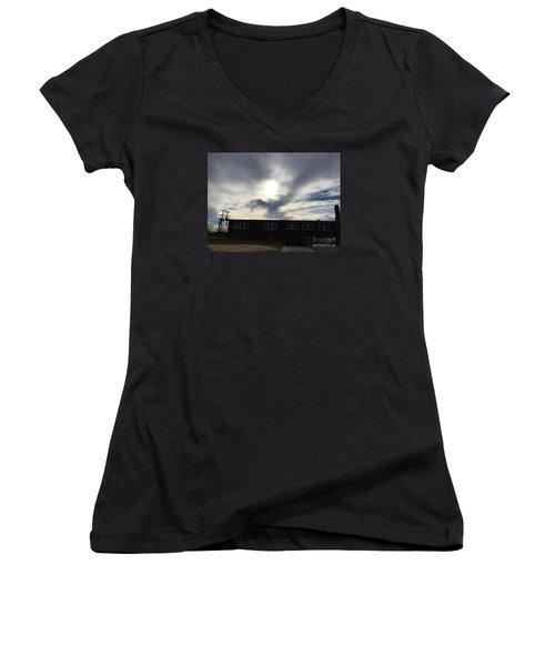 Eagle Cloud In The Carolina Sky Women's V-Neck
