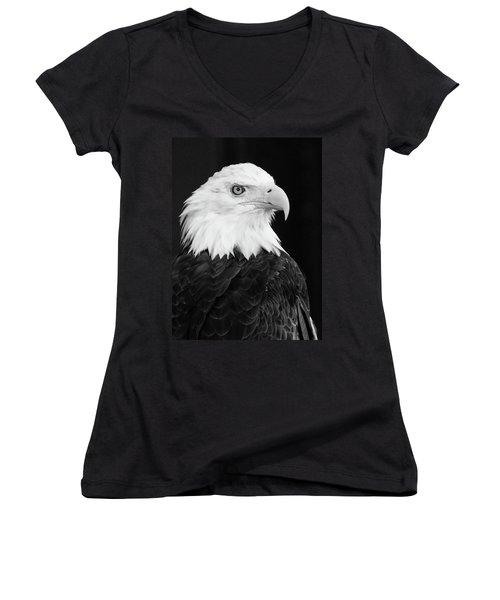 Eagle Portrait Special  Women's V-Neck T-Shirt