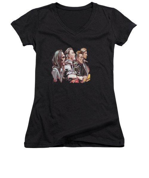 The Eagles Women's V-Neck T-Shirt (Junior Cut) by Melanie D