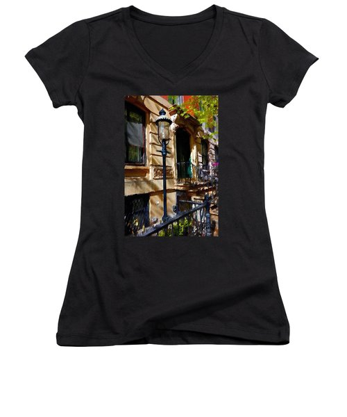 East Village New York Townhouse Women's V-Neck