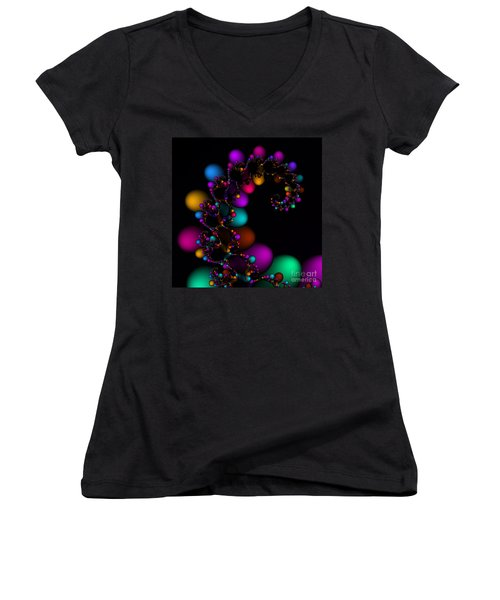 Easter Dna Galaxy 111 Women's V-Neck