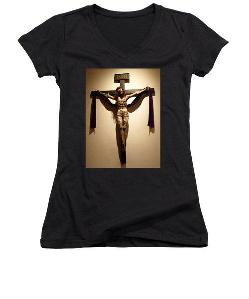 Easter  Women's V-Neck T-Shirt (Junior Cut) by Joseph Frank Baraba