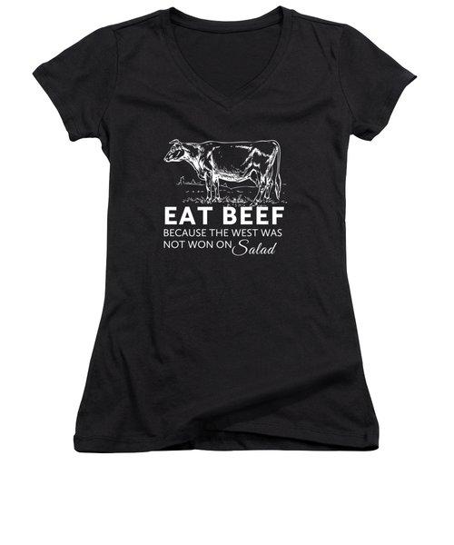 Eat Beef Women's V-Neck