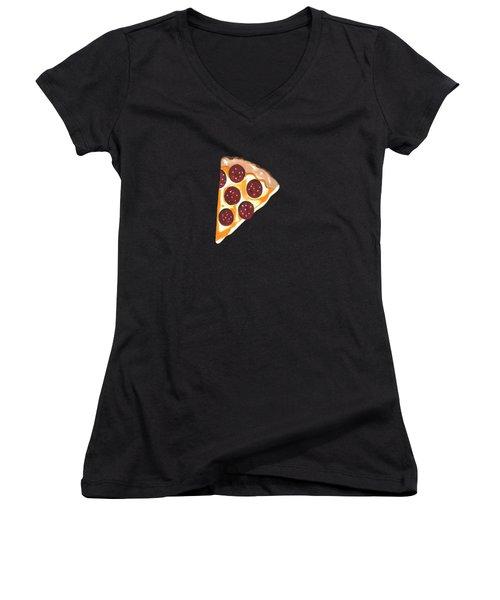 Eat Pizza Women's V-Neck T-Shirt