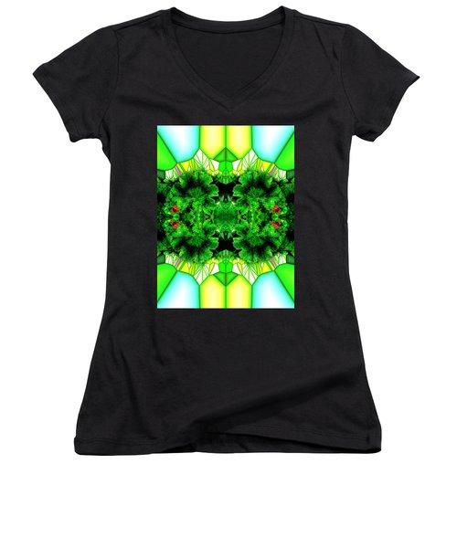 Eat Your Greens Women's V-Neck T-Shirt