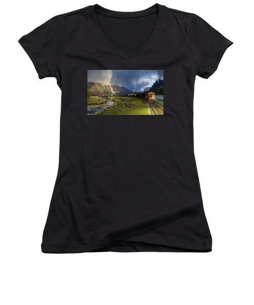 Echoes From The Caboose Women's V-Neck