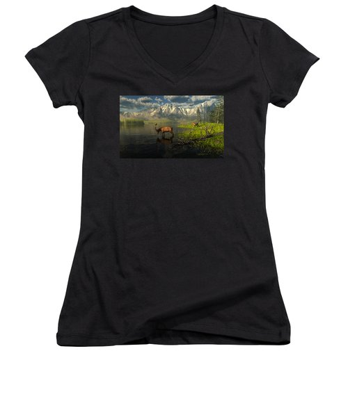 Echoes Of A Lost Frontier Women's V-Neck