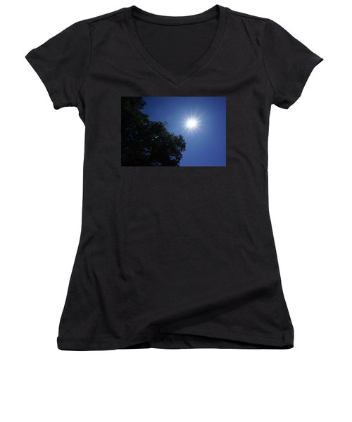 Eclipse Light Prism Women's V-Neck T-Shirt