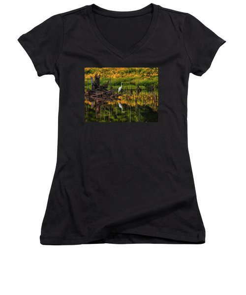 Egret Art  Women's V-Neck