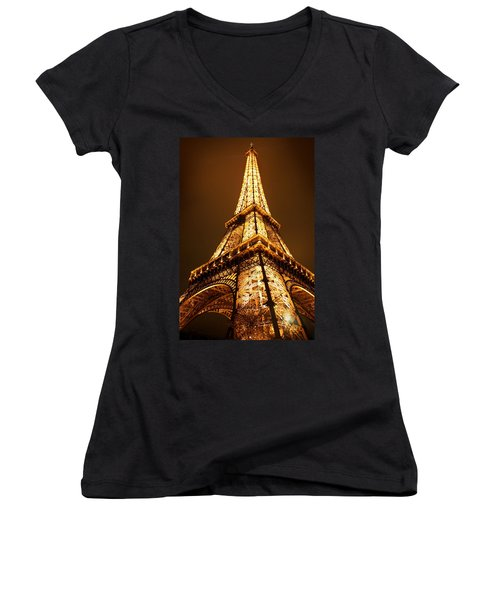 Eiffel Women's V-Neck T-Shirt (Junior Cut)
