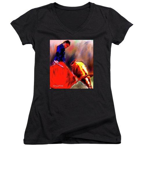 El Matador Women's V-Neck T-Shirt