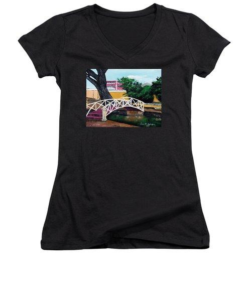 El Parterre Women's V-Neck T-Shirt (Junior Cut) by Luis F Rodriguez