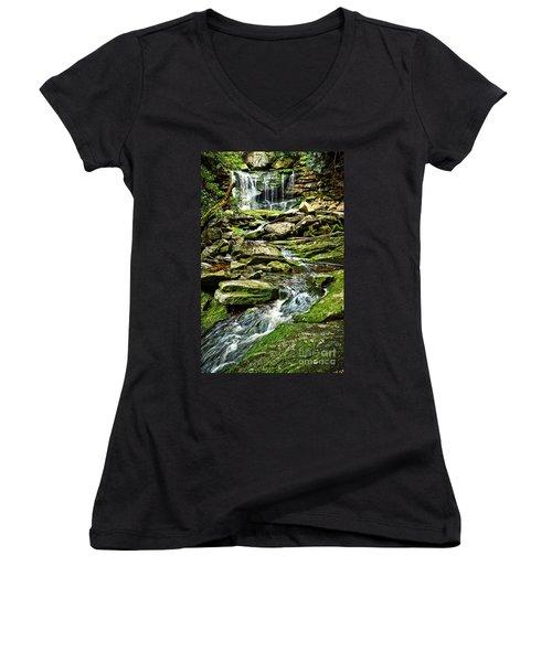 Elakala Falls At Blackwater Falls State Park Women's V-Neck