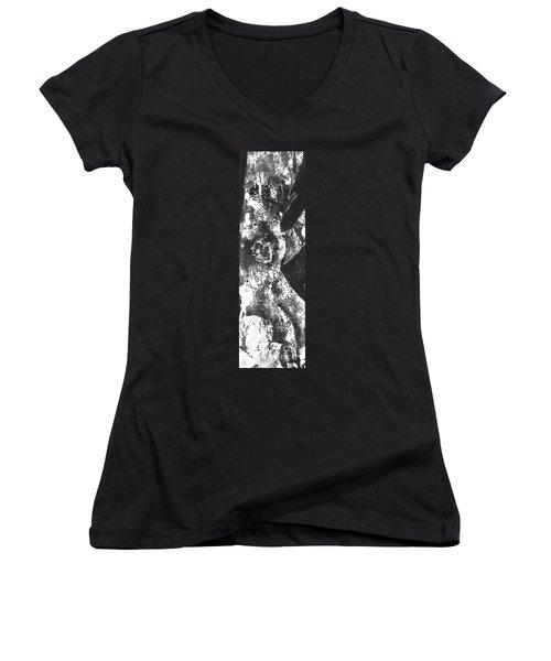 Elder Women's V-Neck T-Shirt (Junior Cut) by Carol Rashawnna Williams